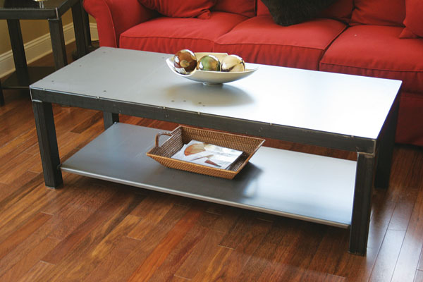 Black Steel Coffee Table